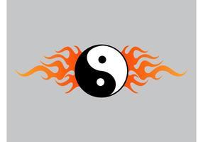 Yin yang flammor