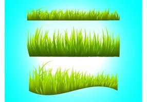 Vectores de los tallos de hierba