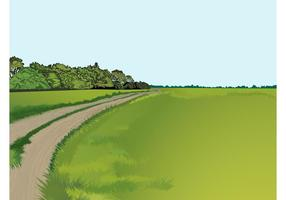 País carretera vector