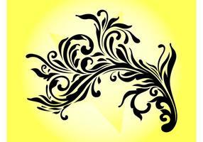 Blommande dekorativa virvlar