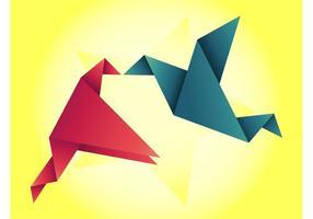 Kyssande Origami Birds