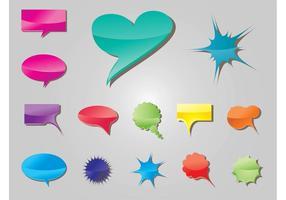 Balões de voz coloridos