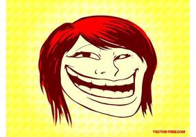 Troll ansikte flicka
