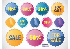 Etiquetas de vendas grátis