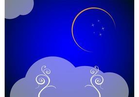 Crescent Moon Background