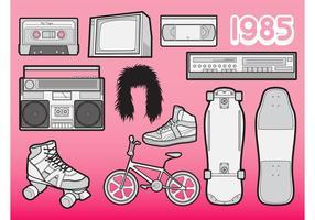Vetores dos anos 80