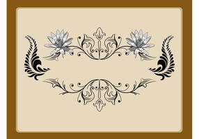 Blom-etikettdekoration