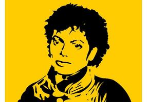 Retrato de Michael Jackson vector