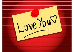 Love Note Vector