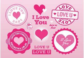 Vecteurs de timbres d'amour