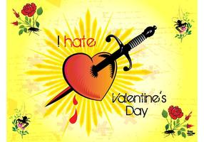 Valentine Hate Vector