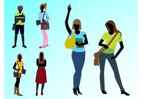 Fashionabla tjejer