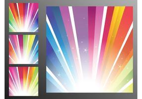Rainbow Strålar Bakgrund