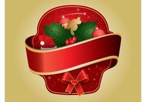 Etiqueta engomada de la Navidad