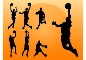 Basketball Spieler Silhouetten