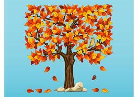 Vetor da árvore do outono