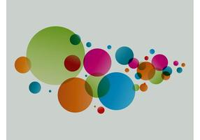 Decoraciones coloridas del círculo