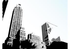 Vecteur de l'horizon de la ville