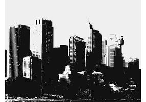 Grote stad gebouwen