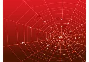 Web avec des gouttes