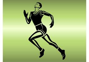 Löpande idrottsman