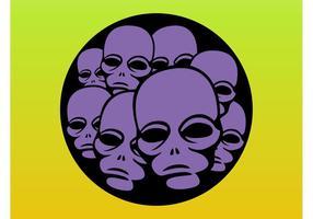 Alien Köpfe