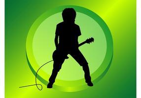 Gitarrenspieler Silhouette