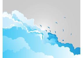 Wolken und Vögel