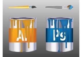 Adobe färgburkar