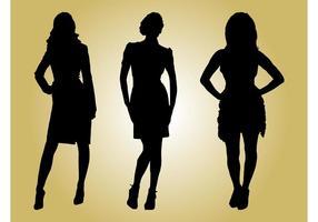 Siluetas de los modelos de moda