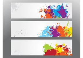 Färgglada Splatter Banderoller