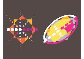 Färgglada abstrakta mönster