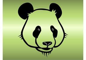 Gullig Panda Vector