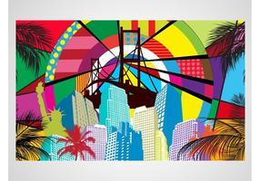 Pop Art City Vector
