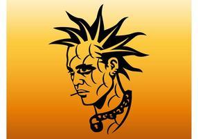 Punk Head Vector