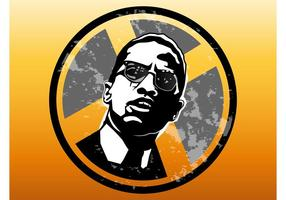 Malcolm X-badge