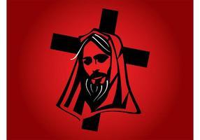 Jesus With Cross Vector
