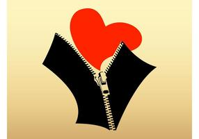 Heart And Zipper