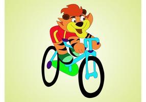 Tigre em bicicleta