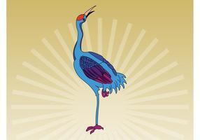 Vecteur oiseau coloré
