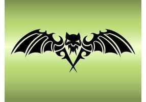 Vleermuis tattoo ontwerp