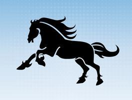 Löpande hästsilhouette