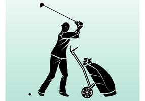Silhueta do jogador de golf