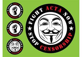ACTA SOPA Badges vector