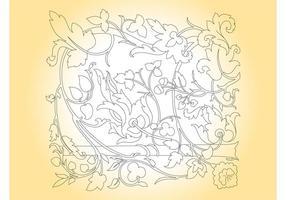 Cadre de contours floraux