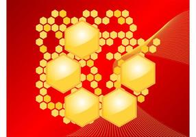 Honungskaka vektor