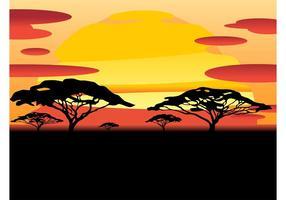 Vecteur du coucher du soleil