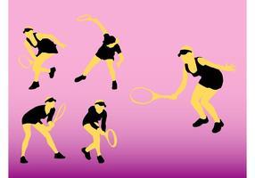 Tennis silhuetter