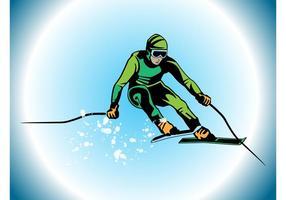 Vector de esquiador