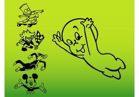 Personajes de dibujos animados vectores